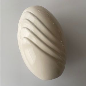 Vintage Cream Egg Shaped Vase